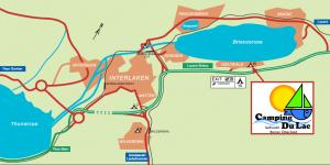 (c) www.campinginterlaken.ch: How to reach the Camping Du Lac campgrounds in Iseltwald near Interlaken